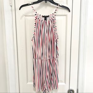Forever 21 multi colored stripped romper